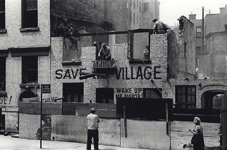 demolition of artist's studio, greenwich avenue, may 19, 1960 by fred w. mcdarrah