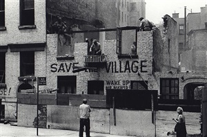demolition of artist's studio, greenwich avenue, may 19, 1960 by fred w. mcdarrah