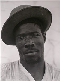 bahamian migrant worker, le sueur, minnesota by jerome liebling
