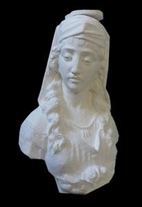 bust of ancient roman girl by li hongbo