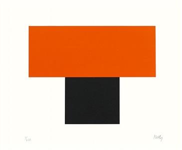 red-orange over black by ellsworth kelly
