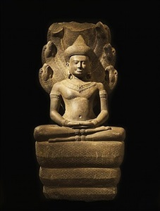 buddha paré protégé par le nâga