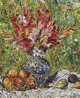 flowers and fruit, after pierre-auguste renoir (pictures of magazine 2) by vik muniz