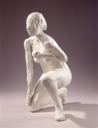 untitled kneeling figure by manuel neri