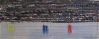 figures on beach by milton avery