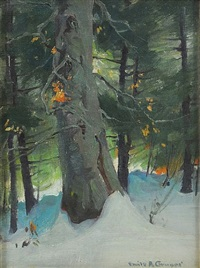 winter woods by emile albert gruppe