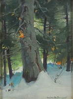 winter woods by emile albert gruppe