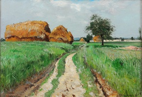 landscape at auvers by william henry howe