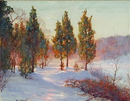 cedars at sundown by walter launt palmer