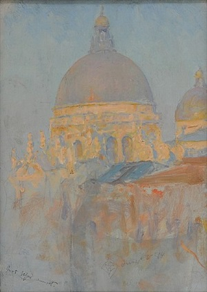just before sunset, venice (santa maria della salute) by walter launt palmer