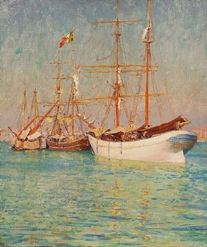venetian reflections by walter launt palmer