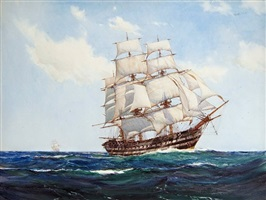 the clipper h.m.s. albion by montague dawson