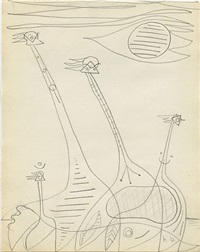 surrealist drawing, prague by hannes beckmann