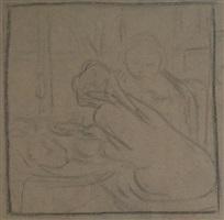 study for 'petit déjeuner devant la fenètre' by edouard vuillard