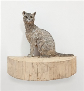 wild cat by stephan balkenhol
