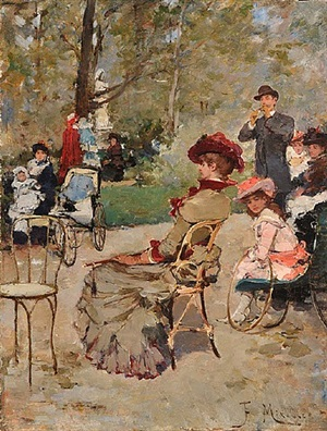 luxembourg gardens, paris by francisco miralles y galup