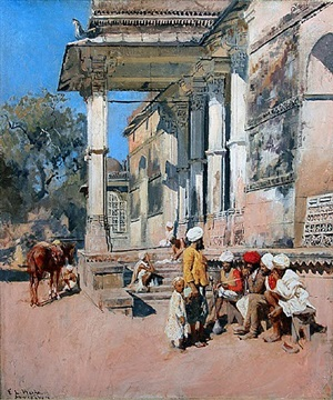 a portico in ahmedabad, india by edwin lord weeks