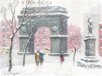 washington square, new york by guy carleton wiggins