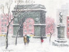 washington square, new york by guy carleton wiggins