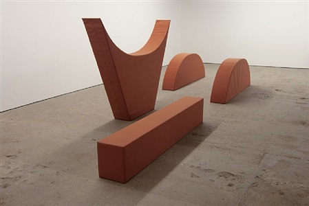 vier formen ziegelton / four shapes brick tone by franz erhard walther