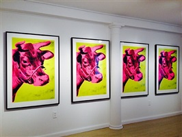 four cows, installation view by andy warhol