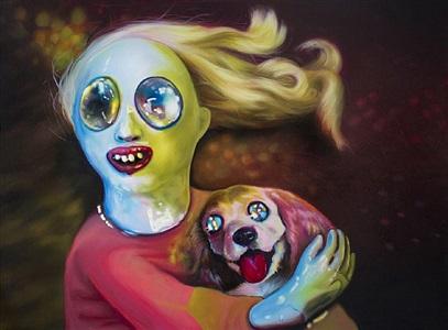 meryl streep and mauve dog by lauren satlowski