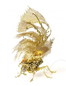 gold insecta lamp by choe u ram