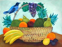 cesta com frutas (basket with fruits) by magdalena zawadzka
