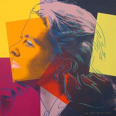 ingrid bergman (herself) by andy warhol