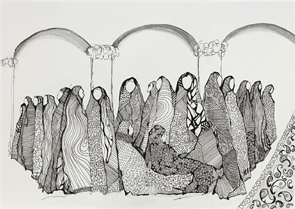 in the mosque by amira behbehani