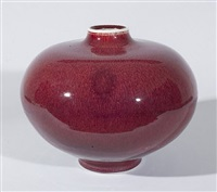 large vase, copper red glaze by brother thomas