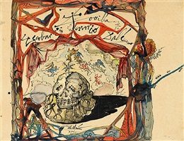 boceto para el cartel de don juan tenorio (design for the poster of don juan tenorio) by salvador dalí