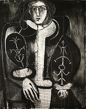 le femme au fauteuil no. 1 (d'apres le rouge) by pablo picasso
