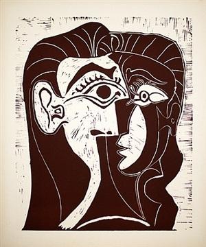 portrait de jacqueline de face i by pablo picasso