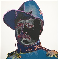 teddy roosevelt (from cowboys and indians portfolio) by andy warhol