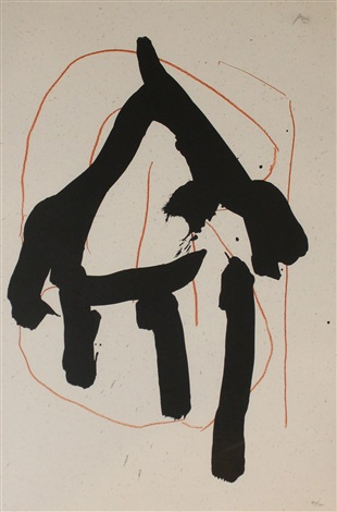 beau geste i from beau geste suite by robert motherwell