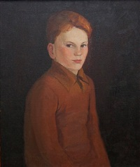 portrait of a boy by john ward lockwood