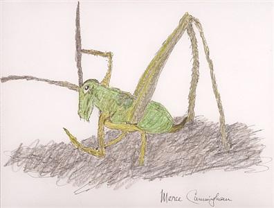 untitled (grasshopper) by merce cunningham