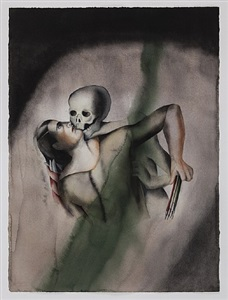 death and the maiden after hans baldung by anju dodiya