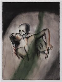 death and the maiden (after hans baldung) by anju dodiya