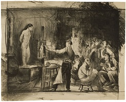 the life class, first stone by george wesley bellows