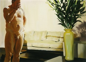 krefeeld project, living room, scene 1 by eric fischl