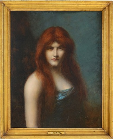 portrait of a woman by jean jacques henner