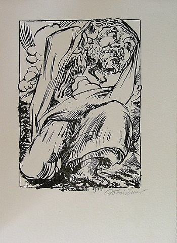 prophet in apocalyptic landscape by ludwig meidner