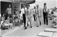 frank sinatra and entourage on miami beach by terry o'neill
