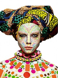 african mask in white by rankin