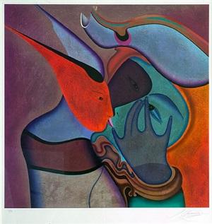 le baiser by mihail chemiakin