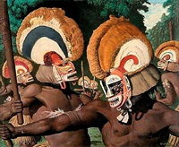 tribesmen with headdresses by robert riggs