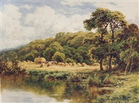 <i>the severn, near bridgenorth, shropshire</i> by henry h. parker