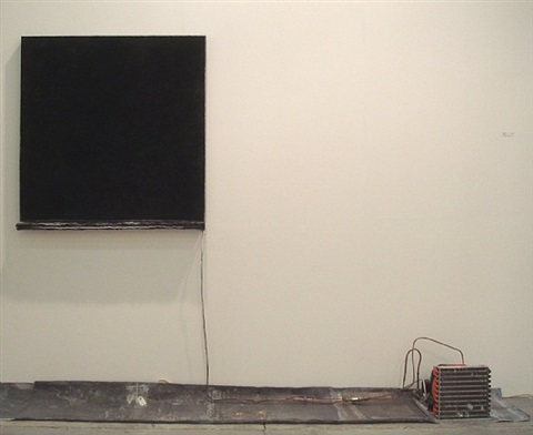 untitled (black salt) by pier paolo calzolari